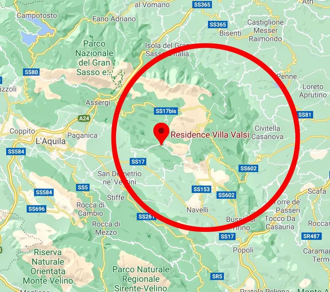 Particolare mappa Borgo santo stefano di sessanio